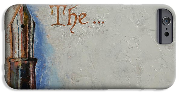 Michael Paintings iPhone Cases - The Beginning iPhone Case by Michael Creese