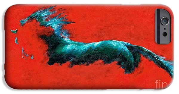 The Horse iPhone Cases - The Beginning of Life iPhone Case by Frances Marino
