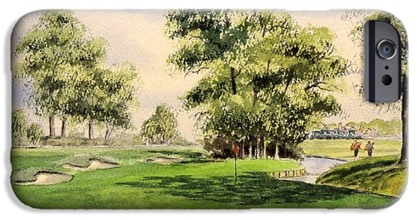 Sutton iPhone Cases - The Belfry Brabazon 10Th Hole iPhone Case by Bill Holkham