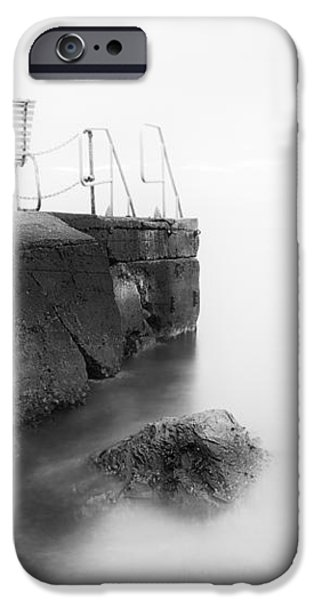 The Bench and the fog iPhone Case by Erik Brede