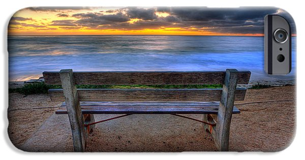 Park Benches iPhone Cases - The Bench II iPhone Case by Peter Tellone