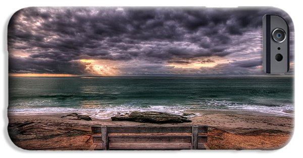 Park Benches iPhone Cases - The Bench - Lrg Print iPhone Case by Peter Tellone