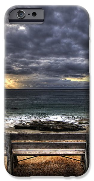 The Bench iPhone Case by Peter Tellone