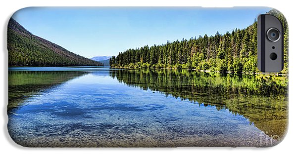 Fed iPhone Cases - The Best Beach In Glacier National Park Panorama 2 iPhone Case by Scotts Scapes