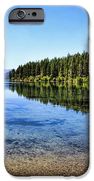 The Best Beach In Glacier National Park Panorama 2 iPhone Case by Scotts Scapes