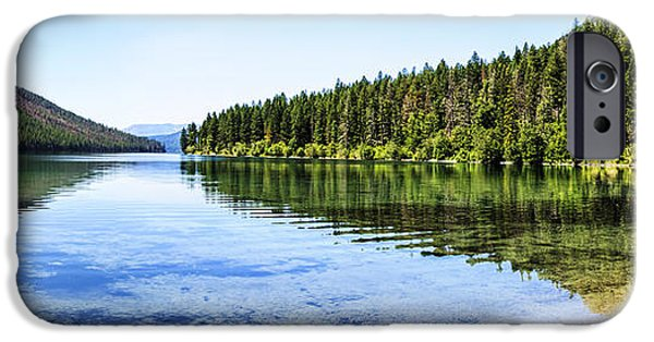 Fed iPhone Cases - The Best Beach In Glacier National Park Panorama iPhone Case by Scotts Scapes