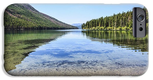 Fed iPhone Cases - The Best Beach in Glacier National Park iPhone Case by Scotts Scapes