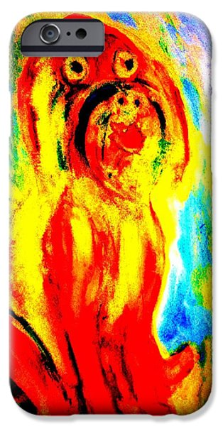 Component Paintings iPhone Cases - So Happy Today iPhone Case by Hilde Widerberg