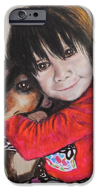 Puppy Pastels iPhone Cases - The Best Of Friends iPhone Case by Jeanne Fischer