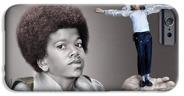 King Of Pop iPhone Cases - The Best of Me - Handle With Care - Michael Jacksons iPhone Case by Reggie Duffie
