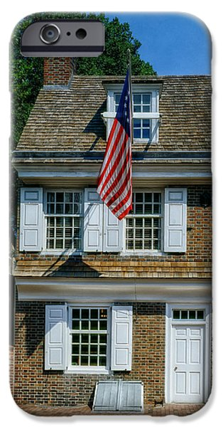 Betsy Ross iPhone Cases - The Betsy Ross House iPhone Case by Mountain Dreams