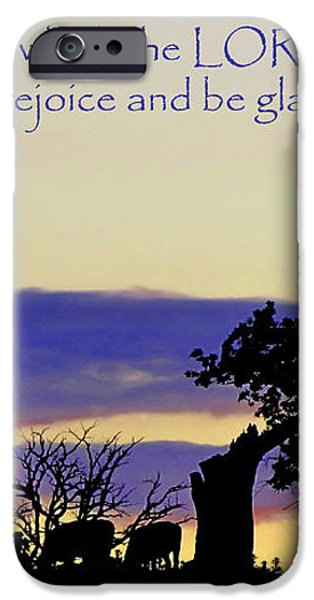 The Bible Psalm 118 24 iPhone Case by Ron  Tackett