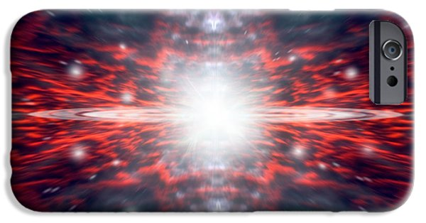 Jet Star Mixed Media iPhone Cases - The Big Bang iPhone Case by Marc Ward