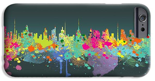 Animation iPhone Cases - The Big City  iPhone Case by Mark Ashkenazi