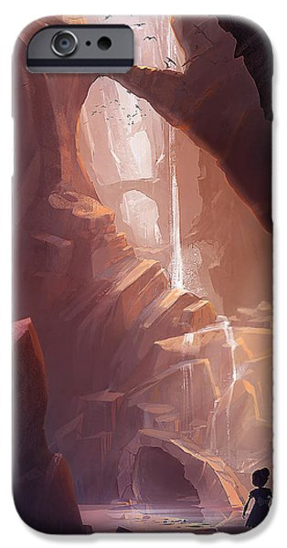 Cave iPhone Cases - The Big Friendly Giant iPhone Case by Kristina Vardazaryan