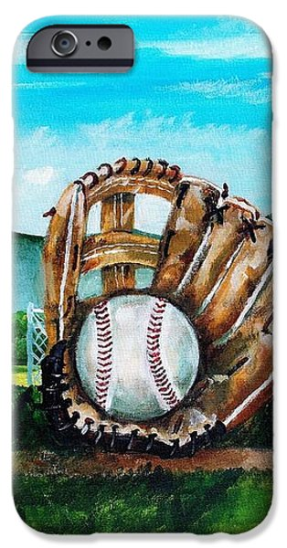 The Big Leagues iPhone Case by Shana Rowe