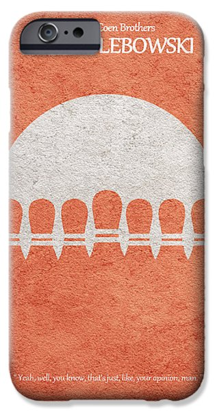 Bowling iPhone Cases - The Big Lebowski iPhone Case by Ayse Deniz