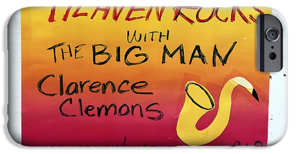 E Street Band iPhone Cases - The Big Man Tribute at the Wonder Bar iPhone Case by John Rizzuto
