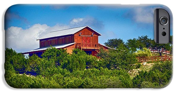 Hallmark Greeting Card iPhone Cases - The Big Red Barn iPhone Case by Kristina Deane