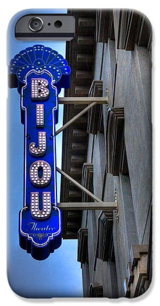 David Patterson iPhone Cases - The Bijou Theatre - Knoxville Tennessee iPhone Case by David Patterson