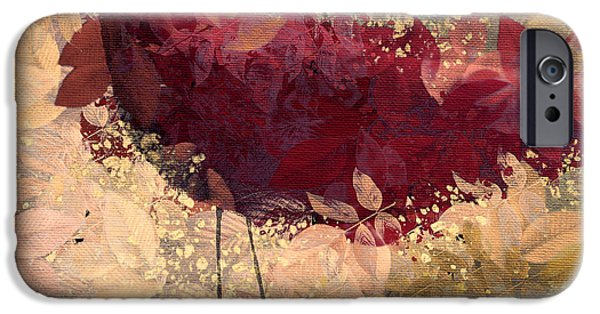 Red Leaf Digital iPhone Cases - The Bird - 112c2b iPhone Case by Variance Collections