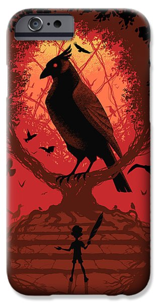 Bird Cages iPhone Cases - The Bird King iPhone Case by Christopher Ables