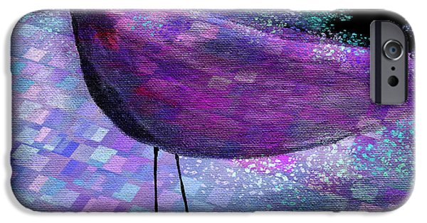 Pastel iPhone Cases - The Bird - s40b iPhone Case by Variance Collections