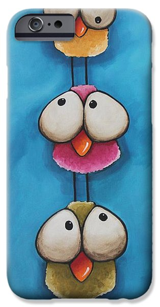 Whimsical Birds iPhone Cases - The bird tower iPhone Case by Lucia Stewart