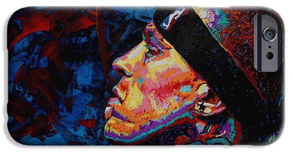 Freed Paintings iPhone Cases - The Birdman Chris Andersen iPhone Case by Maria Arango