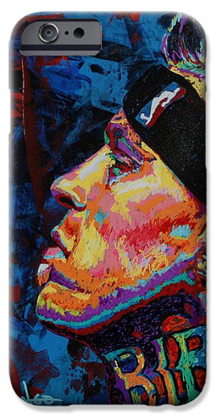 The Birdman Chris Andersen iPhone Case by Maria Arango