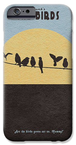 The Gift iPhone Cases - The Birds iPhone Case by Ayse Deniz