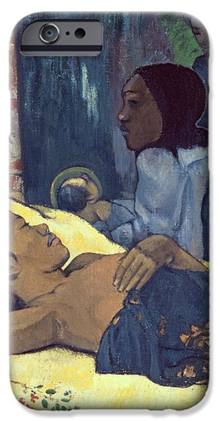 Baby Jesus iPhone Cases - The Birth of Christ iPhone Case by Paul Gauguin