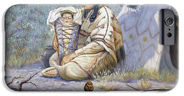 Confederacy iPhone Cases - The Birth of Hiawatha iPhone Case by Gregory Perillo