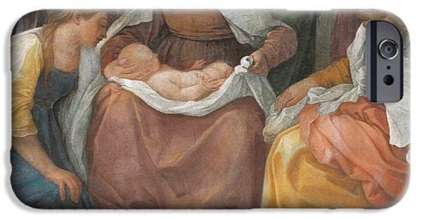 Close Paintings iPhone Cases - The Birth of the Virgin iPhone Case by Guido Reni