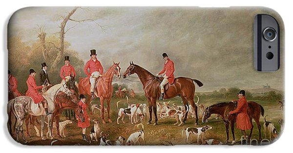 Courage iPhone Cases - The Birton Hunt iPhone Case by John E Ferneley