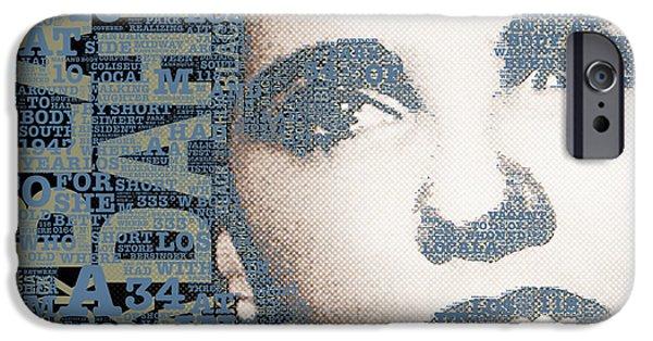 Police Art iPhone Cases - The Black Dahlia Elizabeth Short iPhone Case by Tony Rubino