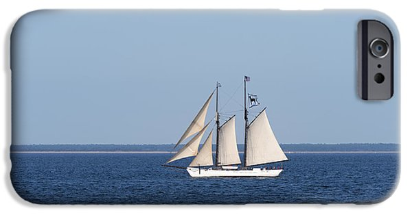 Full Sail iPhone Cases - The Black Dog Schooner iPhone Case by John Greim