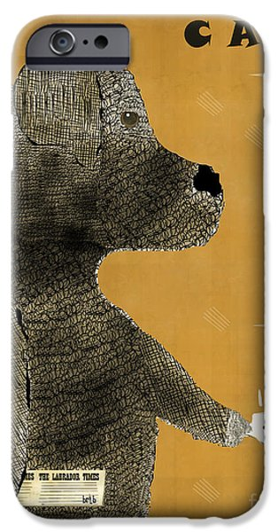 Canine Prints Digital iPhone Cases - The Black Lab  iPhone Case by Bri Buckley