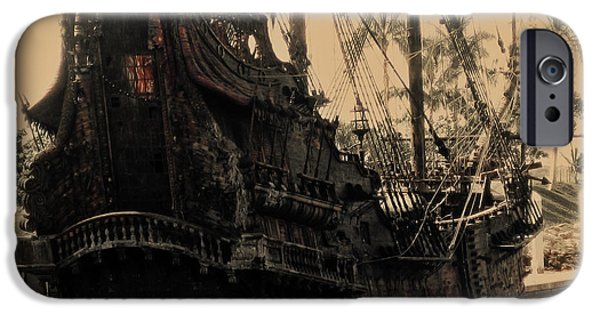 Pirate Ship iPhone Cases - The Black Pearl iPhone Case by Cheryl Young