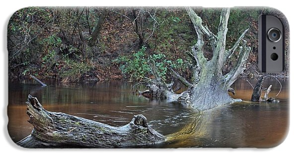 Fed Photographs iPhone Cases - The Black Water River iPhone Case by JC Findley