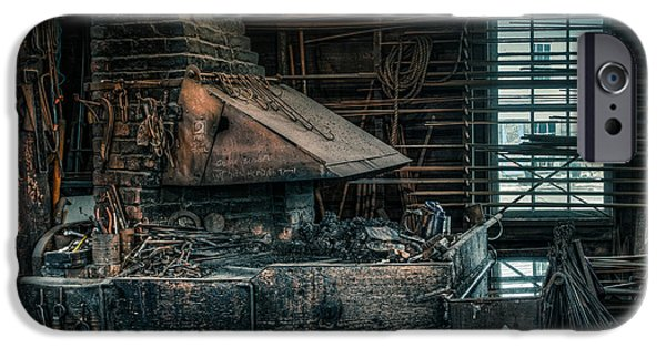 Gary Heller iPhone Cases - The blacksmiths forge - Industrial iPhone Case by Gary Heller