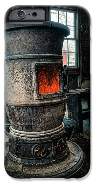 Nineteenth iPhone Cases - The blacksmiths furnace - Industrial iPhone Case by Gary Heller