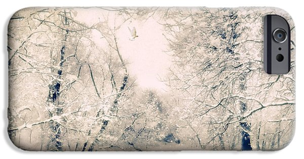 Winter Storm Digital iPhone Cases - The Blizzard iPhone Case by Jessica Jenney