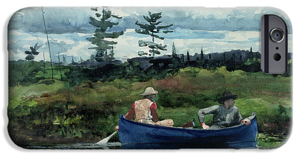 Winslow Homer iPhone Cases - The Blue Boat iPhone Case by Winslow Homer