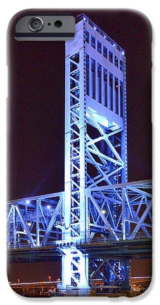 The Blue Bridge - Main Street Bridge Jacksonville iPhone Case by Christine Till