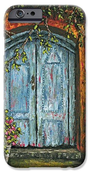 The Blue Door iPhone Case by Darice Machel McGuire