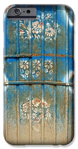 Rust iPhone Cases - The Blue Door iPhone Case by Peter J Coyle