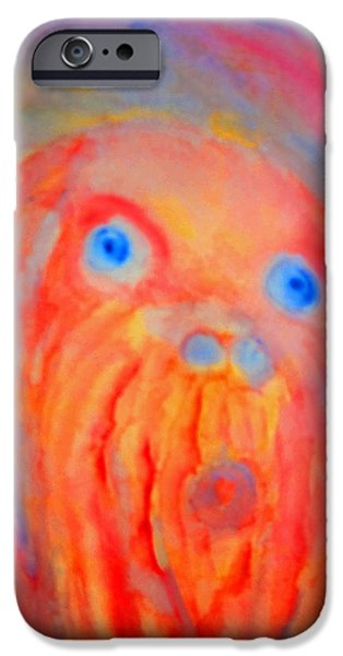 the blue eyed hulder iPhone Case by Hilde Widerberg