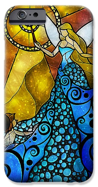 Puppets iPhone Cases - The Blue Fairy iPhone Case by Mandie Manzano