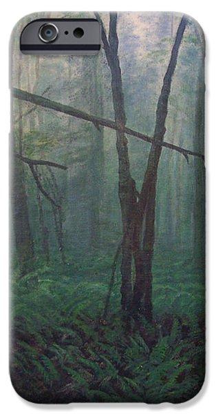 The Blue-green Forest iPhone Case by Derek Van Derven
